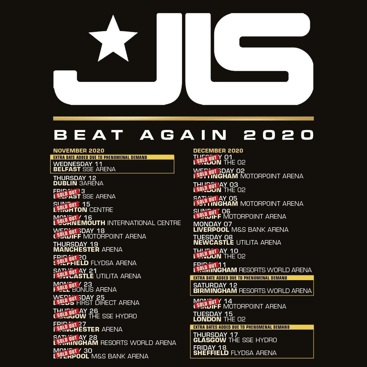 JLS UK Tour 2020