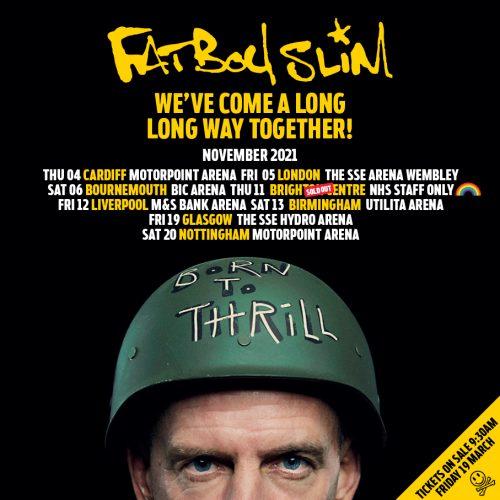 Fatboy Slim UK Arena Tour November 2021